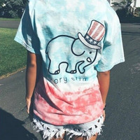 New Cute Elephant T-Shirts for Women Gift