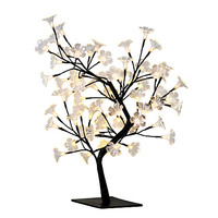 "Simple Designs Cherry Blossom Decorative Lighted Tree Lamp, 23 5/8""H, Clear Shade/Black Base Item # 591008"