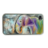 Elephant iphone 4 Case/ 4S Cover Elle by HeavenlyCreaturesArt