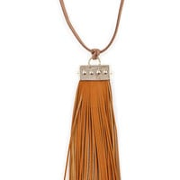 Provisions Brushstrokes Necklace in Camel