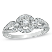 1/4 CT. T.W. Diamond Fashion Ring in Sterling Silver