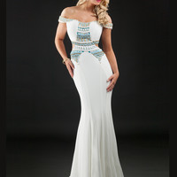 Off The Shoulder Rachel Allan Prom Dress 7066