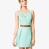 Pleated Fit & Flare Dress | LOVE21 - 2021841020