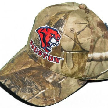 NEW! University of Houston Cougars Buckle Back Hat Embroidered RealTree Camo Cap