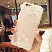 Vintage White Flower Case for iPhone 7 7 Plus