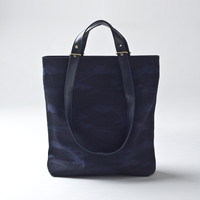 Two Handle Tote Blue