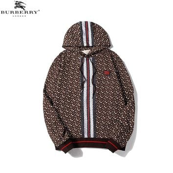 BURBERRY HOODIES Casual Long Sleeve Pullover Top Sweatshirt