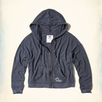 Gilly Hicks Logo Graphic Fleece Hoodie | Gilly Hicks Sleepwear & Lounge | HollisterCo.com