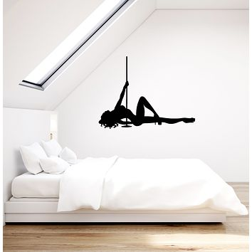 Vinyl Wall Decal Pole Dance Girl Silhouette Striptease Adult Decoration Interior Stickers Mural (ig5989)