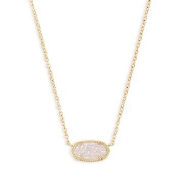 Kendra Scott - Elisa Necklace Gold with Iridescent Drusy