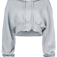 Off-White Simple Crop Hoodie - Farfetch