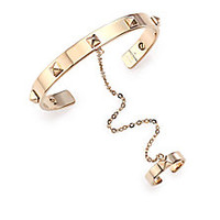 Valentino - Rockstud Chained Cuff Bracelet & Ring Set - Saks Fifth Avenue Mobile