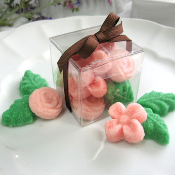 10 Flower and Leaf Shaped Sugar Cube Wedding Party Shower Favors
