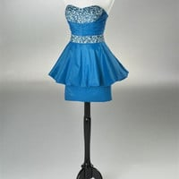 short/Mini Beading Taffeta Prom Dresses / Cocktail Dresses / Homecoming Dresses