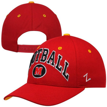Zephyr Maryland Terrapins Football Team Color Adjustable Hat - Red