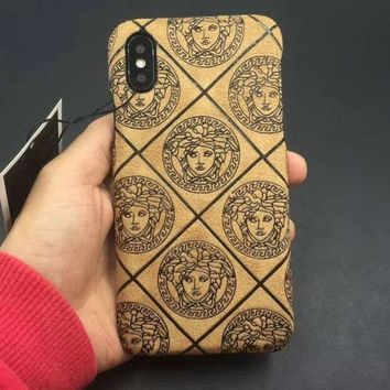 Kalete Versace Fashion iPhone Phone Cover Case For iphone 6 6s 6plus 6s-plus 7 7plus 8 8plus X