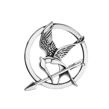 High-quality Trendy Jewelry Laugh at the bird pin Popular Vintage Style Birds Brooches The Hunger Games Fans' gifts men jewerly