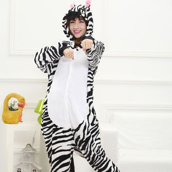 Animal White Cartoons Couple Home Winter Sleepwear [6819642759]