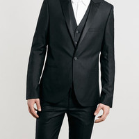 BLACK ULTRA SKINNY FIT THREE PIECE TUXEDO - TOPMAN USA