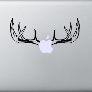 Cool Deer Antler laptop decal, MacBook, Apple, Cool sticker