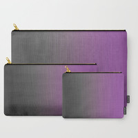 Purple Carry All Pouch - Gray to Purple Ombre - Make-up Bag- Pouch- Toiletry Bag - Change Purse - Organizing Bag - Made to Order