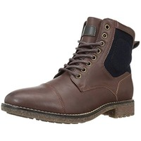 Call It Spring Mens Sarawak Faux Leather Lace Up Chelsea Boots