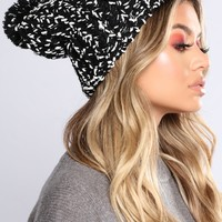 Always Blushing Beanie - Black