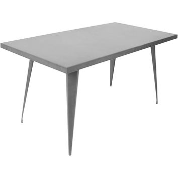 "Austin 59"" x 32"" Dining Table, Matte Grey"