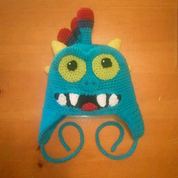 Crocheted Skylander Hat Inspired by Wrecking Ball Character - Baby, Toddler, Child or Preteen Size - Adult Size Must Add On