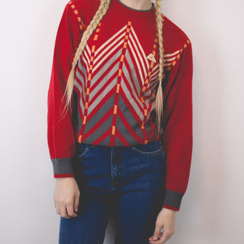 Vintage Geometric Aztec Sweater