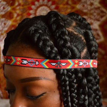 Natural Hair Jewelry: Tribal Print Crown | Aztec Headband | Tribal Headband