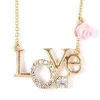 Love Nameplate Pendant Necklace  | Claire's