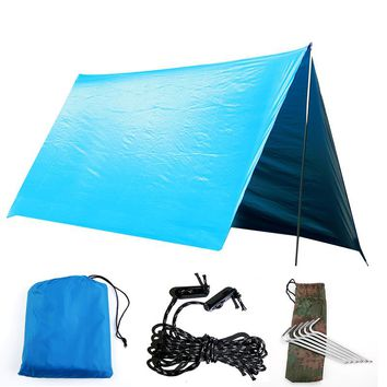 Outdoor Portable Multi-purpose Canopy Hammock Waterproof Sunscreen Awning Shade Tent