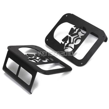 Metal Skull Tail Light Cover Protect Cover For Jeep Wrangler JK 2007~2016