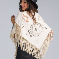 Journey West Faux Suede Fringe Scarf