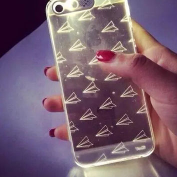 Incoming Call Paper Plane Shining iPhone 5s 6 6s Plus Case Cover Gift 238