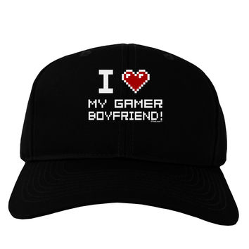 I Heart My Gamer Boyfriend Adult Dark Baseball Cap Hat