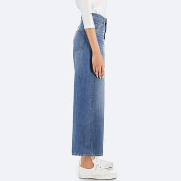 WOMEN HIGH-RISE WIDE-FIT JEANS