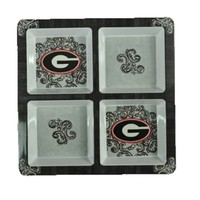 Georgia Melamine 4 Section Tray | Georgia Bulldogs Tray | UGA Tray