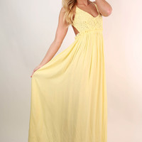 The Grand Reveal Maxi Dress in Yellow