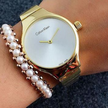 ONETOW CK Calvin Klein Watch man women  fashion Watch F-Fushida-8899 Golden-white surface