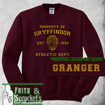 Gryffindor Athletics Dept * Personalized Name * Unisex Sweatshirt