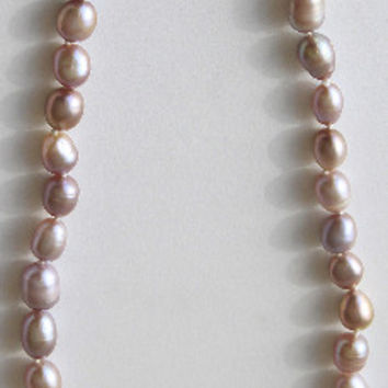 BRET ROBERTS PINK CHAMPAGNE PEARL NECKLACE