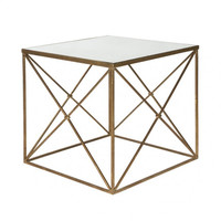 Furano Side Table in Gold design by Aidan Gray