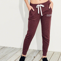 Girls Logo Mid-Rise Fleece Joggers | Girls Bottoms | HollisterCo.com