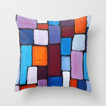 Composition Throw Pillow by mariameesterart
