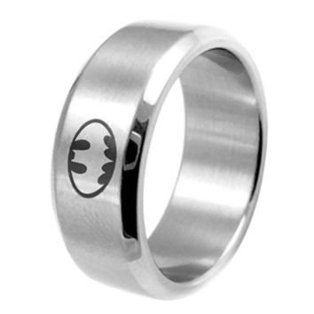 8mm Stainless Steel Batman Ring