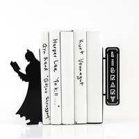 Bookends Reading Batman these bookends will hold your child's favorite books. Great for kids' room