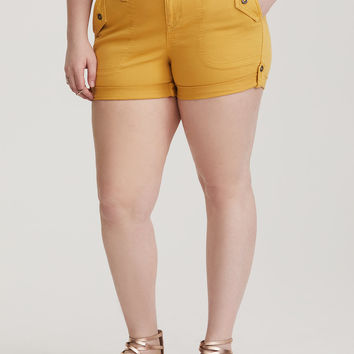 Twill Military Short - Yellow Wash