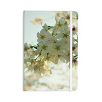 "Robin Dickinson ""Cherry Blossoms"" White Flower Everything Notebook"